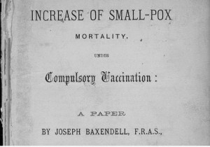 Joseph Baxendell Increase of smallpox mortality under compulsory vaccination