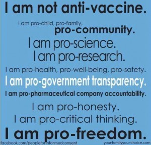 I am not anti-vaccine