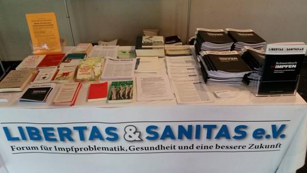 Libertas Sanitas Stand la Impfkonferenz