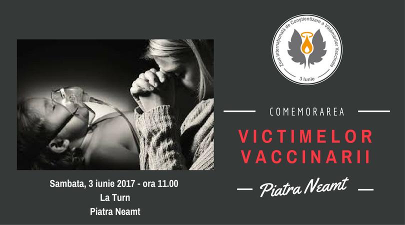 Comemorare victime vaccinare - Piatra Neamt